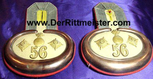 PRUSSIA - EPAULETTES - HAUPTMANN - Artillerie-REGIMENT Nr 56 - STORAGE BOX - Imperial German Military Antiques Sale
