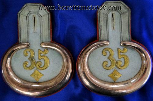 PRUSSIA - EPAULETTES - OBERLEUTNANT - BEZERKSKOMMANDO Nr 35 - Imperial German Military Antiques Sale