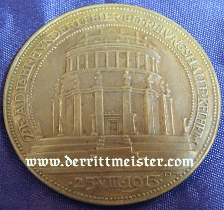 TABLE MEDAL - BAVARIA - CENTENNIAL - BATTLE OF LEIPZIG - BEFREIUNGSHALLE - Imperial German Military Antiques Sale