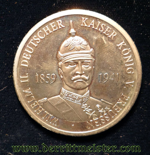TABLE MEDAL - KAISER WILHELM II - Imperial German Military Antiques Sale