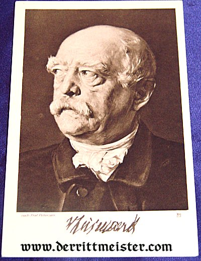 POSTCARD - IRON CHANCELLOR OTTO von BISMARCK - Imperial German Military Antiques Sale