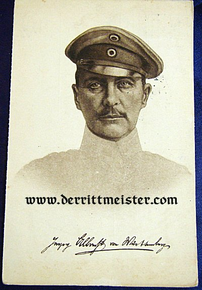 POSTCARD - HERZOG ALBRECHT - WÜRTTEMBERG - Imperial German Military Antiques Sale