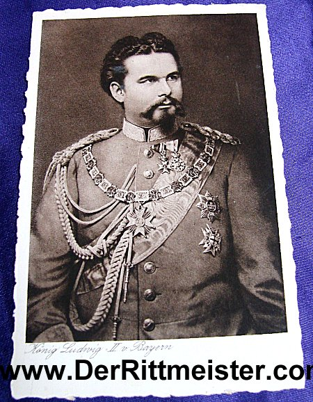 POSTCARD - KÖNIG LUDWIG II - BAVARIA - Imperial German Military Antiques Sale