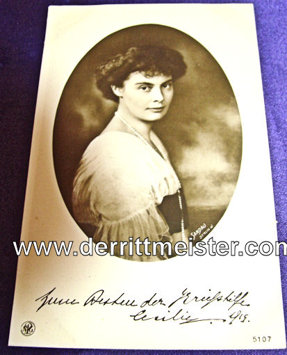 POSTCARD - KRONPRINZESSIN CECILIE - Imperial German Military Antiques Sale