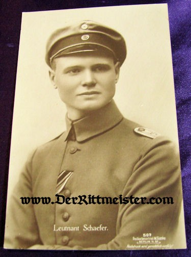 SANKE CARD Nr 507 - PLM WINNER KARL EMIL SCHÄFER - Imperial German Military Antiques Sale