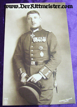 NPG CARD Nr 5613 - PLM WINNER OBERLEUTNANT MAX IMMELMANN - Imperial German Military Antiques Sale