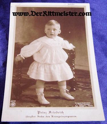 POSTCARD - KRONPRINZ WILHELM'S SON - PRINZ FRIEDRICH - Imperial German Military Antiques Sale