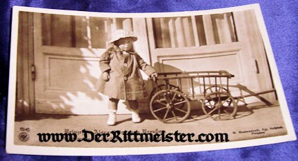 POSTCARD - KRONPRINZ WILHELM'S DAUGHTER - PRINZESSIN ALEXANDRINE - Imperial German Military Antiques Sale