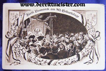 POSTCARD – 80th BIRTHDAY – OTTO von BISMARCK