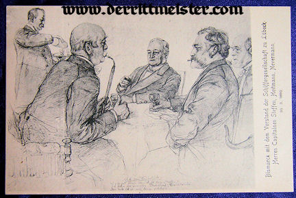POSTCARD - OTTO von BISMARCK - OTHER OFFICIALS - Imperial German Military Antiques Sale
