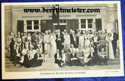 POSTCARD - PRINCESS HERZELEIDE'S WEDDING - HOUSE HOHENZOLLERN - Imperial German Military Antiques Sale