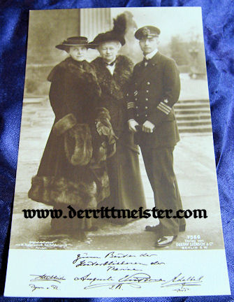 POSTCARD - PRINZ ADALBERT - MOTHER - WIFE - Imperial German Military Antiques Sale