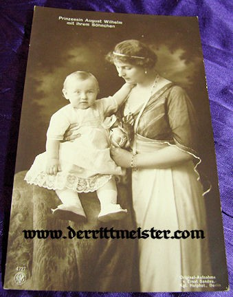 POSTCARD - PRINCESS ALEXANDRA VIKTORIA - SON - Imperial German Military Antiques Sale