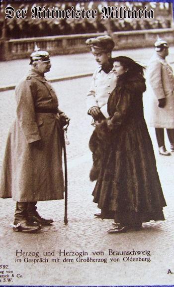 POSTCARD - DUKE ERNST AUGUST - DUCHESS VIKTORIA LUISE - BRAUNSCHWEIG - GRAND DUKE FRIEDRICH AUGUST - OLDENBURG - Imperial German Military Antiques Sale