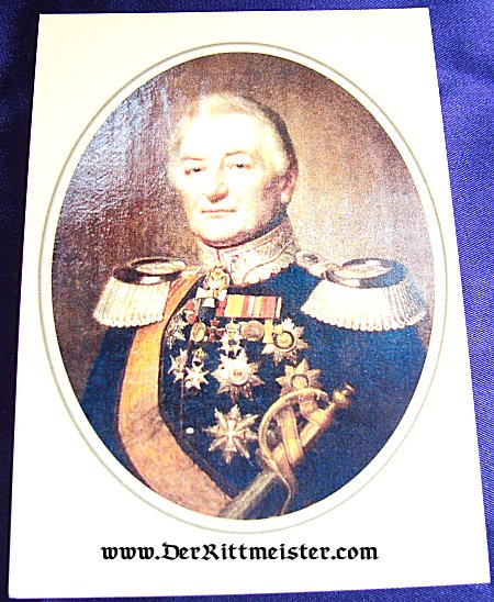 MODERN-DAY POSTCARD - GENERALMAJOR CARL WILHELM LUDWIG HARTWIG von BOTH - MECKLENBURG-SCHWERIN - Imperial German Military Antiques Sale