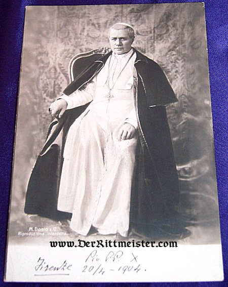 POSTCARD - POPE PIUS X - Imperial German Military Antiques Sale
