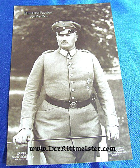 GUSTAV LIERSCH POSTCARD Nr 7499 - PRINZ EITEL FRIEDRICH - Imperial German Military Antiques Sale