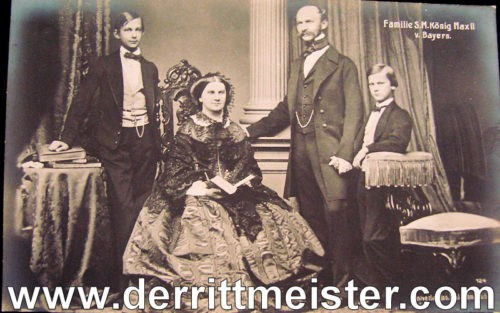 POSTCARD - BAVARIA'S KÖNIG MAXIMILIAN II AND FAMILY - Imperial German Military Antiques Sale