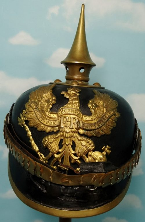 PRUSSIA - PICKELHAUBE  - NCO - INFANTERIE REGIMENT - Imperial German Military Antiques Sale