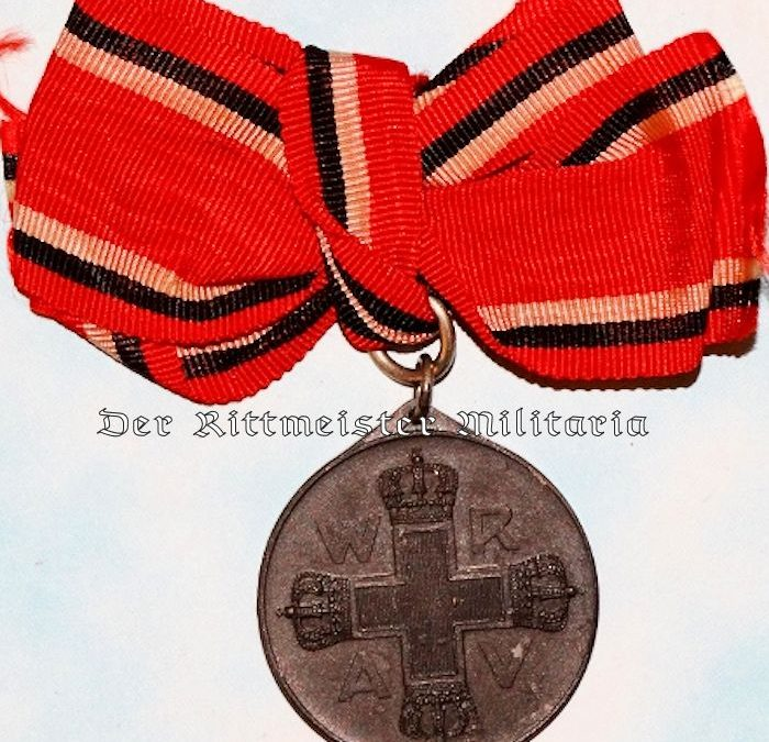 GERMANY – RED CROSS WORKER MEDAL – 3rd CLASS – WITH BOW