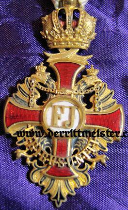 KNIGHT'S CROSS - FRANZ JOSEF ORDER - ORIGINAL PRESENTATION CASE - AUSTRIA - Imperial German Military Antiques Sale