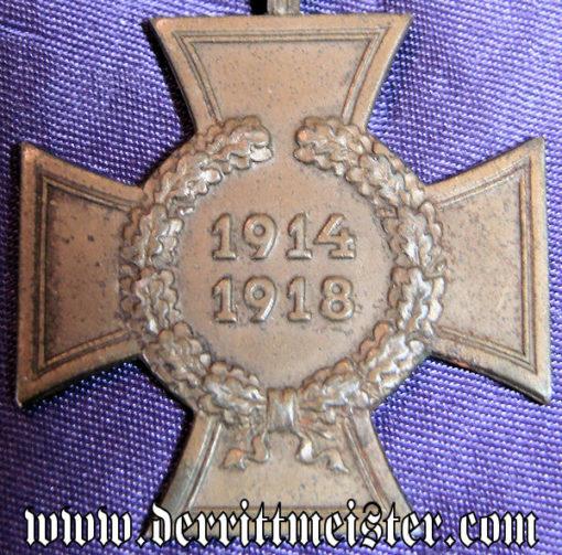 HINDENBURG CROSS - NON COMBATANT'S - Imperial German Military Antiques Sale