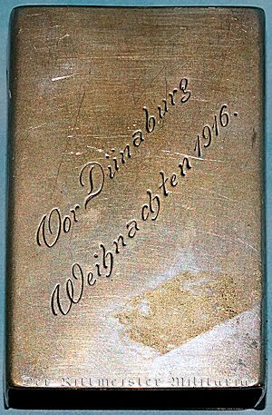 JEWELER'S CUSTOM-MADE .800 SILVER MATCH-SAFE WITH OFFICERS' REPRODUCED SIGNATURES - Imperial German Military Antiques Sale