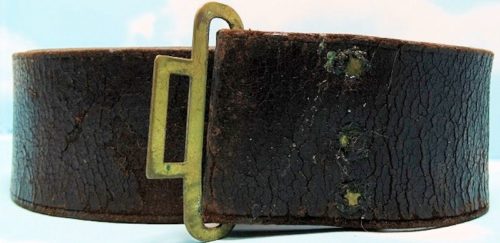 GERMANY - LEATHER BELT - OFFICER - Imperial German Military Antiques Sale