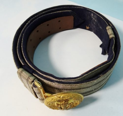 BADEN & OLDENBURG - DRESS BROCADE BELT & BUCKLE - OFFICER - Imperial German Military Antiques Sale