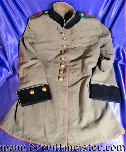 SAXONY - TUNIC - ENLISTED MAN - FELDARTILLERIE Nr 32 SOLDIER'S 1915 FELDGRAU (FRIEDENSUNIFORM) - Imperial German Military Antiques Sale