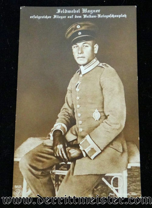 NPG CARD Nr 5695 VIZEFELDWEBEL WAGNER - Imperial German Military Antiques Sale