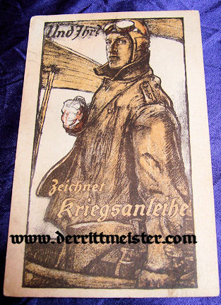 POSTCARD - GERMAN AVIATOR - Imperial German Military Antiques Sale