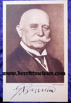 POSTCARD - FERDINAND GRAF von ZEPPELIN - ZEPPELIN-ECKNER SPENDE - Imperial German Military Antiques Sale