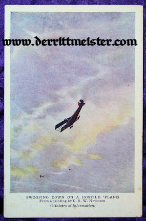 COLOR POSTCARD - BRITISH AIRPLANE - ATTACK - Imperial German Military Antiques Sale