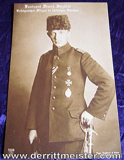 NPG POSTCARD Nr 5566 - PILOT LEUTNANT FRANK SEYDLER - Imperial German Military Antiques Sale