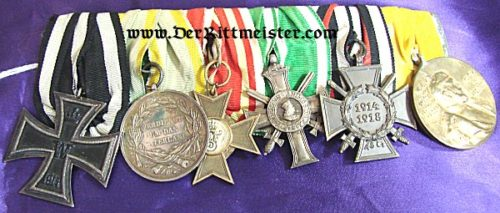BADEN / PRUSSIA / SAXONY - MEDAL BAR - SIX PLACE - Imperial German Military Antiques Sale