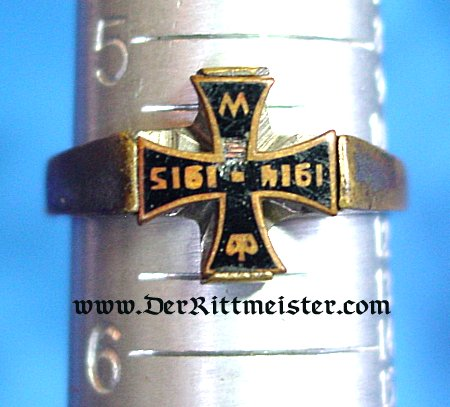 PATRIOTIC RING - 1914/1915 IRON CROSS