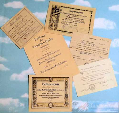 GERMAN SOUTHWEST AFRICA - AWARD DOCUMENT GROUP FOR SCHUTZTRUPPEN MEMBER - Imperial German Military Antiques Sale
