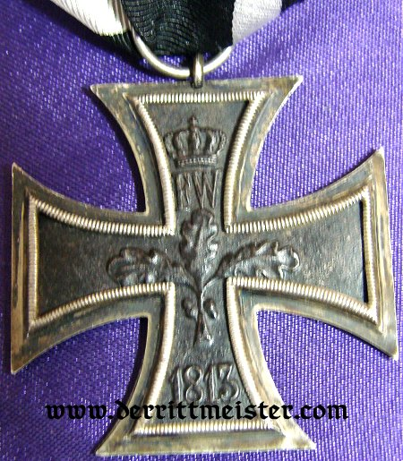 BAVARIA - 1914 IRON CROSS 2nd CLASS AND AWARD DOCUMENT - Imperial German Military Antiques Sale
