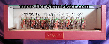 PRUSSIA - CASED DISPLAY - JÄGER zu PFERDE TIN SOLDIERS - Imperial German Military Antiques Sale