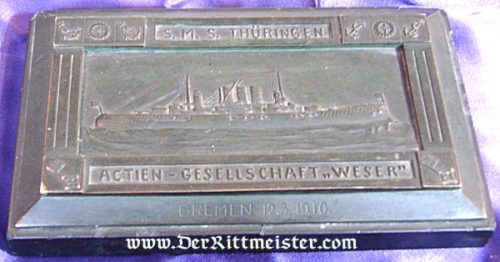 NAVY DESK PIECE - S.M.S. THÜRINGEN - Imperial German Military Antiques Sale