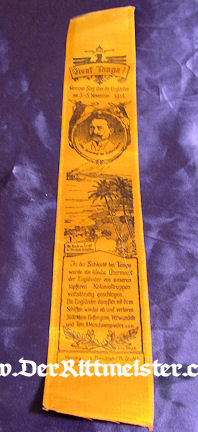 VIVAT RIBBON - GERMANY'S COLONY - TANGA - Imperial German Military Antiques Sale