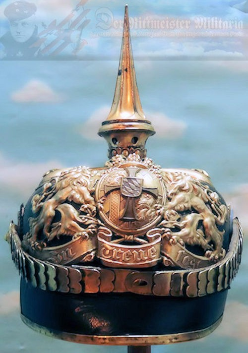 BAVARIA - PICKELHAUBE - RESERVE OFFICER - LEIB-INFANTERIE-REGIMENT - Imperial German Military Antiques Sale