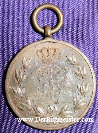 FRIEDRICH AUGUST MEDAL - BRONZE - SAXONY - Imperial German Military Antiques Sale