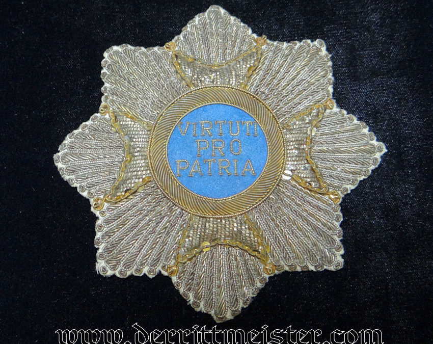 BAVARIA – BREAST STAR – GRAND CROSS OF MILITARY MAX JOSEPH – EMBROIDERED – (REPRODUCTION)