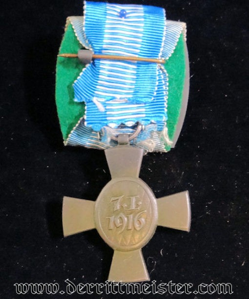 KING LUDWIG III MEDAL SET UP AS MEDAL BAR - Imperial German Military Antiques Sale