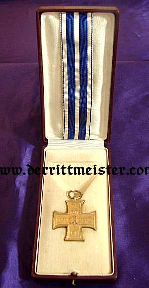 LIPPE-DETMOLD CROSS - TRUE SERVICE 2nd CLASS - AWARDED - ARCHDUKE EUGEN - AUSTRIA - Imperial German Military Antiques Sale