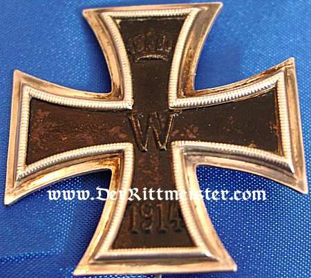 IRON CROSS - 1914 - 1st CLASS - NON VAULTED AND .800 SILVER HALLMARKED IN THE ORIGINAL PRESENTATION CASE. - Imperial German Military Antiques Sale