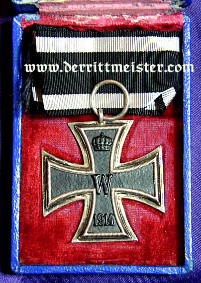 IRON CROSS - 1914 - 2nd CLASS - ORIGINAL PRESENTATION (BLUE) CASE