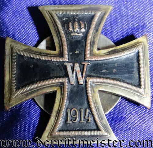 IRON CROSS - 1914 - 1ST CLASS - TWO-PIECE-SCREWBACK